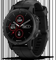 Garmin fenix 5S Plus Sapphire multisportovní hodinky, černá/černá