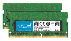 Crucial 2x16Gb, 2400MHz DDR4, CL17, DRx8, SODIMM, 260pin