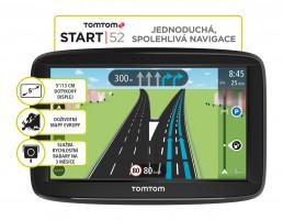 TomTom START 52 Regional CEE, LIFETIME mapy