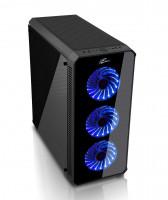 EVOLVEO RAY 5, case ATX, 3x LED modrý ventilátor