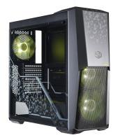 case Cooler Master MasterBox MB500 TUF Edition, ATX, Micro-ATX, Mini-ITX, 2x USB3.0, bez zdroje, čer