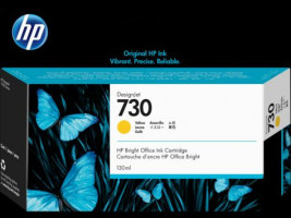 HP P2V64A, HP No. 730, tisková náplň Yellow 130ml