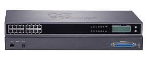 Grandstream GXW4216, VoIP, SIP, 16x FXS, 1x Gbit LAN, grafický displej, RJ21, rack