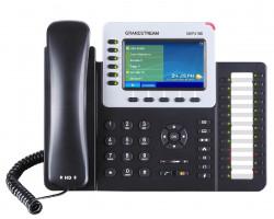 "Grandstream GXP2160, 4,3"" TFT bar. displej, 6 SIP účtů, 6 prog. tl., 24 BLF, BT, dual Gbit port, PoE"