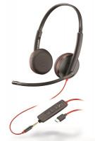 Plantronics Blackwire C3225, Duo, USB-C/Jack