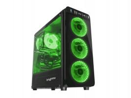 Počítačová skříň Genesis IRID 300 zelená MIDI (USB 3.0), zelená
