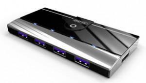 Unitek Y-3178 Hub 4x USB 3.0, port pro nabíjení iPadu, aktivní
