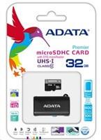 ADATA Micro SDHC karta 32GB UHS-I Class 10 + OTG čtečka USB 2.0, microUSB (AUSDH32GUICL10-ROTGMBK)