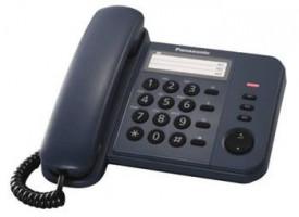 Panasonic KX-TS520FXC - jednolinkový telefon, modrý (5025232484614)