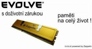 EVOLVE by Zeppelin DDR III 4GB 1600MHz (KIT 2x2GB)EVOLVE GOLD (s chladičem,box),CL9 (9-9-9-24) testováno pro TripleChan