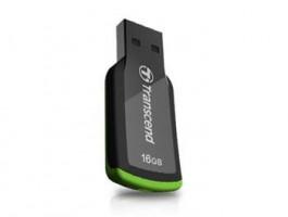 Transcend Jetflash 360 mini flashdisk 16GB USB 2.0, černo-zelený (TS16GJF360)