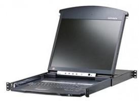 "Aten 16-port Cat.5 KVM PS/2+USB,19"" LCD, touch"