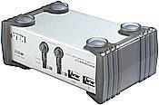 ATEN 2port KVMP USB+PS/2, USB hub, audio, 1.2m