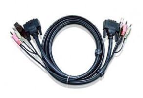 ATEN int.kabel pro KVM USB, DVI, audio, 1,8m pro CS1768