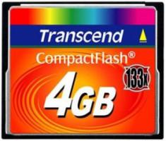 Transcend CompactFlash karta 4GB vysokorychlostní 133x