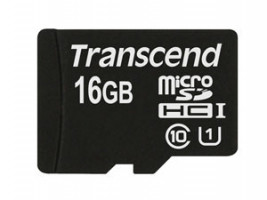 Transcend 16GB microSDHC UHS-I (Class 10) paměťová karta (bez adaptéru) (TS16GUSDCU1)