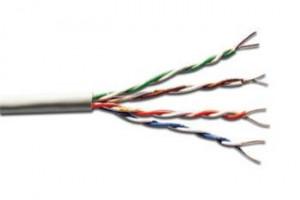ASSNET250 CAT 6 U-UTP instalační kabel, drát, délka 305 m, Papírový box, AWG 23/1, PVC barva šedá