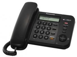 Panasonic KX-TS580FXB - jednolinkový telefon, černý (5025232484683)