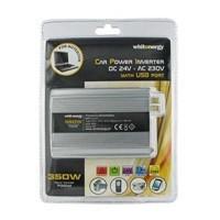 Napěťový měnič DC/AC 24V/230V 350W, USB (06580)