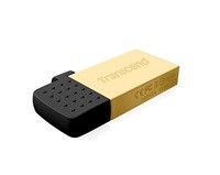 TRANSCEND USB Flash Disk JetFlash®380G, 32GB, USB 2.0/micro USB, Gold (R/W 19/7 MB/s) (TS32GJF380G)
