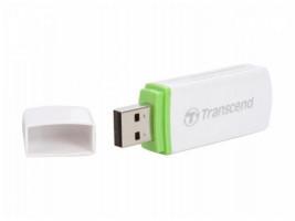 Transcend externí čtečka paměťových karet, USB 2.0, bílá