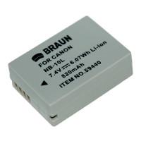 BRAUN akumulátor - CANON NB-10L (59440)