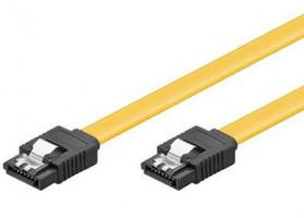 Kabel k HDD PremiumCord 0,5m SATA 3.0 datový kabel 1.5GBs / 3GBs / 6GBs, kov.západka