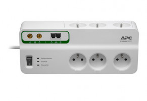 APC Home/Office SurgeArrest 6 Outlets s Phone and Coax Protection 230V France