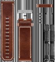 Garmin Řemínek hnědý kožený pro fenix3 / D2 Bravo