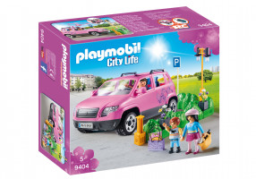 Playmobil 9404 Rodinným vozem za nákupy