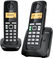 Gigaset A220 DUO, bezdrátový domácí telefon, černá
