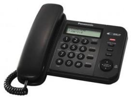 Panasonic KX-TS560FXB - jednolinkový telefon, černý (5025232484621)