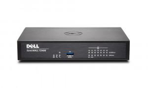 Dell SonicWALL TZ400 - Bezpečnostní zařízení - s roční služba TotalSecure - 7 porty - 10Mb LAN, 100