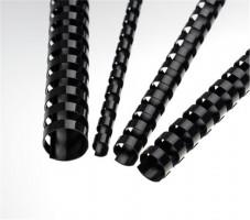 Plastové hřbety 6 mm, černé (LAMRE21DR06N)