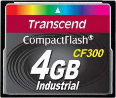 Transcend 4GB INDUSTRIAL CF300 CF CARD, high speed 300X paměťová karta (SLC)