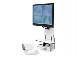 Ergotron StyleView Sit-Stand Vertical Lift, Patient Room - Nástěnná montáž pro LCD displej / kláves