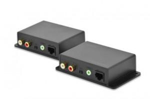 DIGITUS Cat 5 Audio Extender, Extension up to 600 m local + remote unit