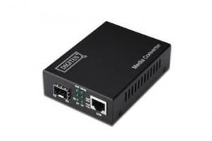 Digitus Media Converter 10/100/1000Base-T to SFP slot + zdroj 80 km - bez SFP modulu,