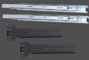 """EUROCASE rack 19"""" lyžiny pro EC 4U-500 rack, 600-900mm hloubka (Rack19""""lyžiny)"""