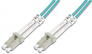 DIGITUS Fiber Optic Patch Cord, LC/LC Multimode 50/125 µ, OM3, Duplex, 15m