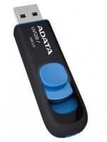 ADATA DashDrive™ Series UV128 64GB USB 3.0 flashdisk, výsuvný, černý+modrá