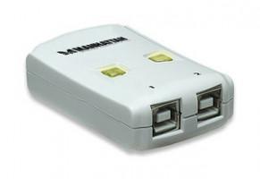 Manhattan 2 Port Automatic Data Switching USB Hub, sdílení 1 zařízení pro 2 PC