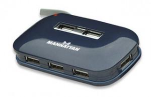 Manhattan 7 Ports Hi-Speed USB 2.0 Ultra Hub, Dual Power, Multiple Transaction Translator