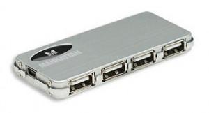 Manhattan 4 Port Hi-Speed USB 2.0 Micro Hub, AC power
