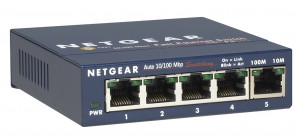 Netgear 5x 10/100 Mbps Fast Ethernet Switch power adaptér