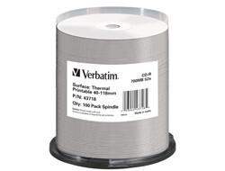 CD-R Verbatim [700MB, 52x ,spindle 100 |THERMAL SURFACE FOR RIMAGE PRISM] (43718)