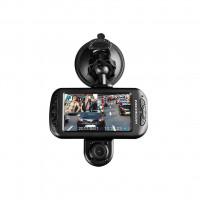 """Modecom MC-CC15 FHD duální kamera do auta, Full HD/HD 1080/720p, 12MPx, microSD/SDHC, 3.0""""LCD, microUSB, G-sensor, čern"""