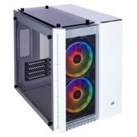 Corsair Crystal 280x RGB, průhledná / bílá
