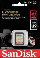 SanDisk Extreme SDXC Video 256GB 150MB V30 U3 SDSDXV5-256G-GNCIN