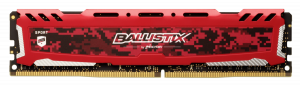 Ballistix Sport LT 8GB DDR4 3000 DIMM 288pin red SR CL15